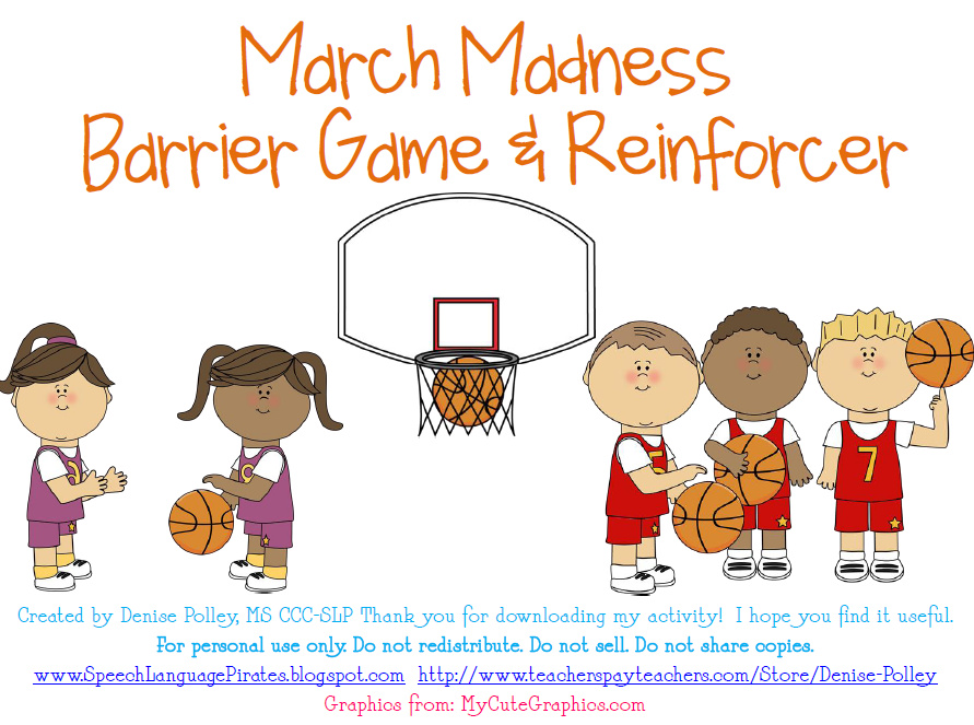 March Madness Freebie & Grammar Golf
