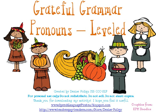 Grateful Grammar – Pronouns
