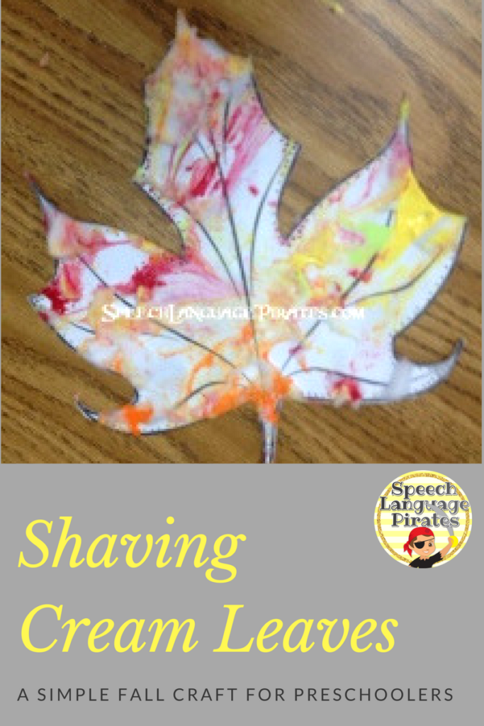 Shaving Cream Leaf Craftivity